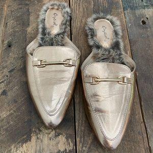Qupid fur lined mules